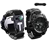 Gifts for Men Dad Husband,Wejie Survival Gear Kit Watch 6 in 1 Emergency EDC Survival Tools SOS Earthquake Aid Equipment,Christmas Cool Gadget Gift,Camping Survival Kit for Adventure Outdoors Sport