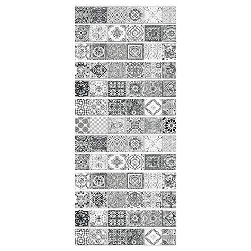 ZDDBD 3D Pegatinas De Escalera Impermeable Autoadhesivo Pegatina De Pared Vinilo Adhesivo Decorativo para Cuartos, Dormitorio,Cocina 18 * 100Cm * 13Pcs- Azulejos Grises