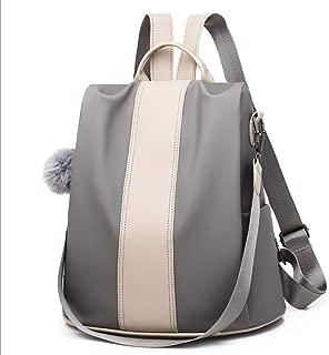 YbzyyqShop Women Backpack Handbag Nylon Shoulder Bag Antitheft Rucksack Lightweight Waterproof School Shoulder Bag Anti Theft Sport,Fashion,Travel (Color : Silver)