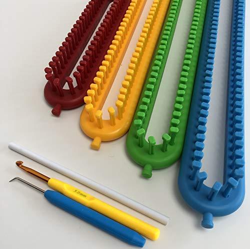 Knituk rond rouge Knitting Loom 62 chevilles montées Medium Gauge Loom .