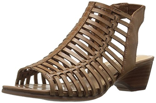 Bella Vita Women's Pacey Wedge Sandal, Camel Burnish, 6.5 M US