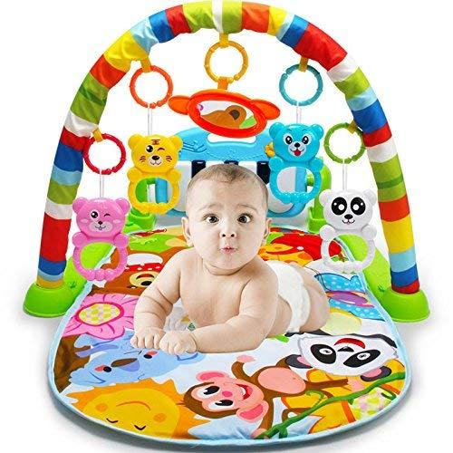 Play Matte Teppich Spielmatte für Babys mit Baby-Klavier, Rainforest Piano Gym Baby Spieldecke Spielmöglichkeiten, Musik und Beleuchtung Piano