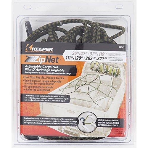 Keeper 03141 ZipNet Adjustable Cargo Net - Camo