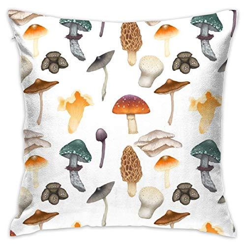 HZLM Funda de almohada decorativa de seta de 45 x 45 cm