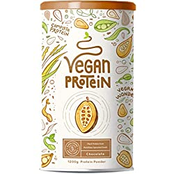 Proteína Vegana - 1200 g en polvo con sabor a chocolate natural