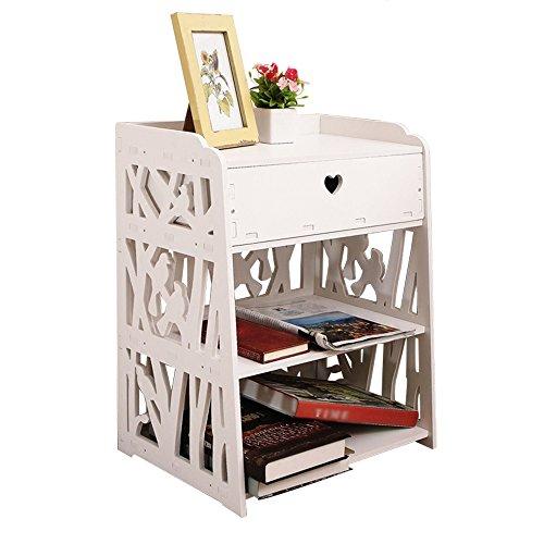 C-T-G Cabinet de Chevet sculpté Table de Chevet Blanche Cabin de Chevet Cabines de Chambre à Coucher (Couleur : B)