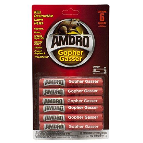 Amdro Gopher Gasser, Controls Gophers, Moles & Skunks; 6 Pack