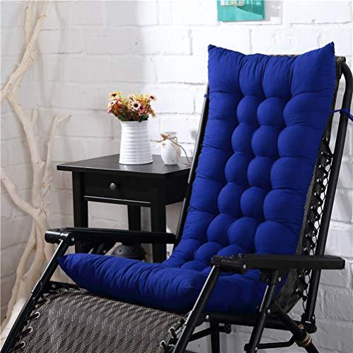 Cojines para tumbonas al aire libre, cojín para silla de salón interior, grueso portátil para jardín, patio, reclinable, colchoneta de 155 x 48 cm
