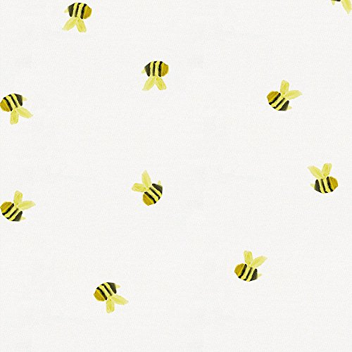 Carousel Designs Watercolor Bees Fabric by The Yard - Organic 100% Cotton