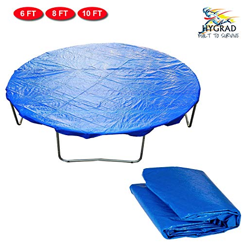 HYGRAD Outdoor Kids Trampoline With Safety Net Cover & Step Ladder 6FT 8FT 10FT Sizes (8FT)