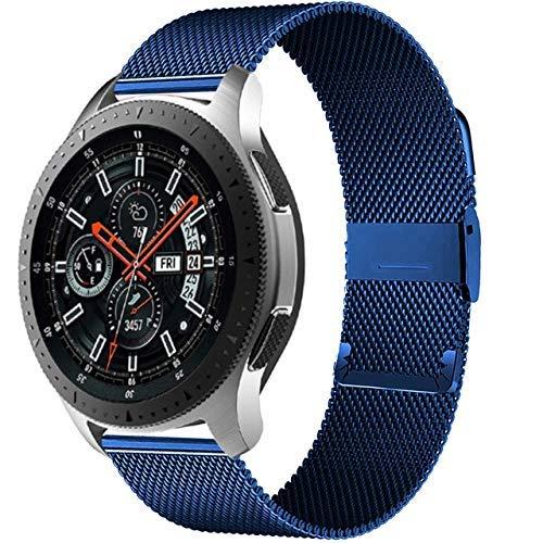 KTZAJO 2021 La última pulsera milanesa GT 2-2e-Pro de 20 mm/2 mm, compatible con Galaxy Watch 3 45 mm/46 mm/42 mm/Active 2 4 mm 40 mm Banda (Color: Azul, Tamaño: 20 mm Gear Sport)