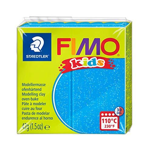 STAEDTLER 8030-312 - Fimo Kids Normalblock, 42 g, blau glitter