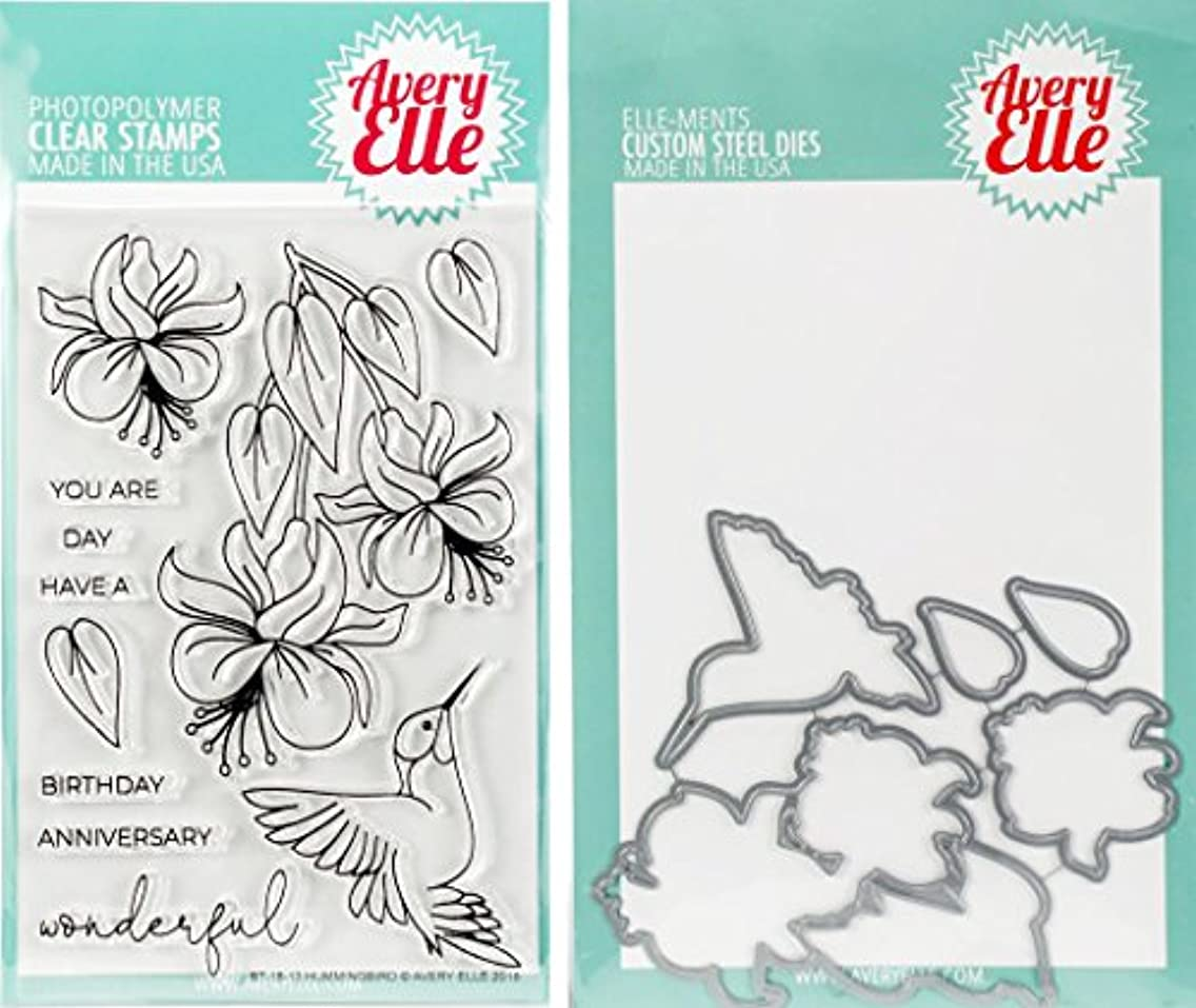 Avery Elle - Hummingbird Clear Stamps and Dies Set - 2 item bundle