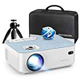 FANGOR HD Bluetooth Projector - Portable 1080P Supported Projector for Outdoor Movie, Mini Video Projector with Carry Bag & Tripod, Compatible Computer/ Laptop/ SD Cards/PS4/ Xbox