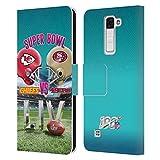 Head Case Designs Oficial NFL Kansas City Chiefs vs San Francisco 49ers 2020 Super Bowl Liv Versus Carcasa de Cuero Tipo Libro Compatible con LG K8 / Phoenix 2