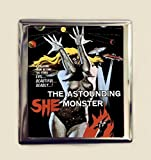 She Monster Cigarette Case Business Card ID Holder Wallet Sci Fi Pulp B-Movie Camp