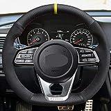 XIAOBAOBEI Housse de Volant en Cuir véritable Souple Noir pour Kia K5 Optima 2019 CEE d Ceed GT 2019 CEE d Ceed GT-Line Forte GT Sportag-Black_Thread
