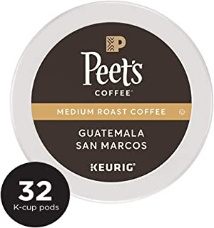 Peet's Coffee Single Origin Guatemala, Medium Roast, 32 Count Single Serve K-Cup Coffee Pods for Keurig Coffee Maker
