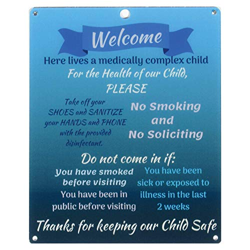 Rolling Buddies Medically Fragile Child Plastic Sign - Blue