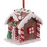 Tomaibaby Adorno Colgante de Navidad Adornos de Casa de Jengibre de Navidad Adorno de Escritorio Decoración de Árbol de Navidad Decoración de Fiesta