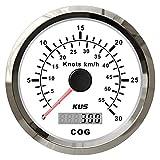 HUILING September Department Store KUS - Remolque automático, apto para buques de yate de coche, 85 mm, GPS COG 30 nudos Km H 12 V 24 V Speedometer (color: blanco)