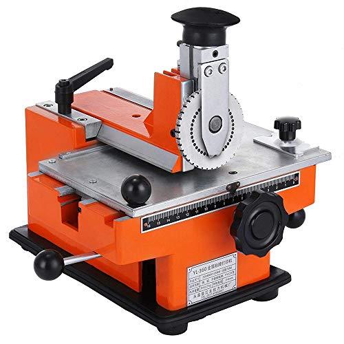 InLoveArts Halbautomatisches Blatt Embosser Typenschild 2~4 Zeichen pro Sekunde Metall Embosser Arbeitsplatte Präge Label Maker Maschine mit 4mm Aluminiumplatte Metall Tag Plate Dog Tag Drucker