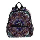 TIZORAX Mandala Floral patrón ligero mochila escolar de viaje para niños niñas niños diseño 19 25.4x10x30 CM/10x4x12 in