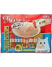 チャオ (CIAO) 猫用おやつ ちゅ~る まぐろ・かつおバラエティ 14g×40本入