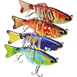 Best Fishing Tackles - Fishing Lures Bass Lures Set, 4 PCS Swim Review