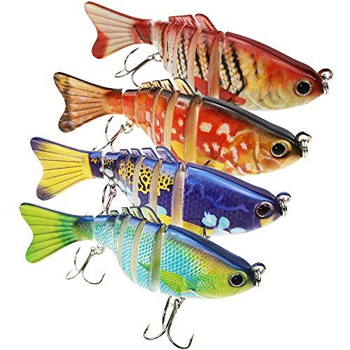 Fishing Lures Bass Lures Set, 4 PCS Swim...