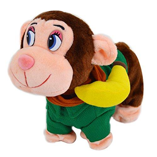 ABBY jouets en peluche de câble électrique intelligent pour animaux de compagnie singe porter des vêtements Marcher Torsion Cul ABBY jouets en peluche de câble électrique intelligent pour animaux de compagnie singe porter des vêtements Marcher Torsion Cul/Vert