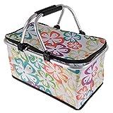 iplusmile ピクニックバッグ かご ピクニックバスケット 保冷バック 買い物かご 30L 大容量 折り畳み式 手提げ