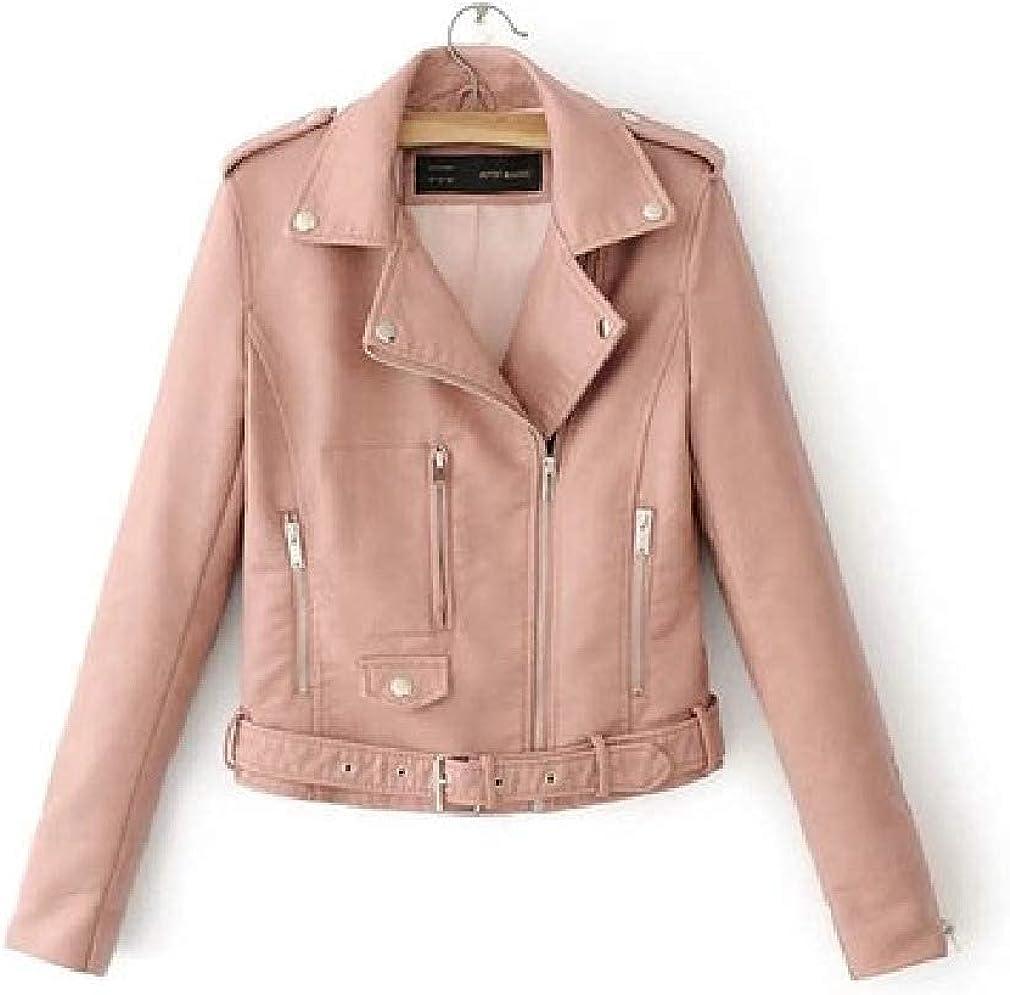 Year-end gift Women Zip Max 65% OFF Up Biker Short Coat Jacket Soft Slim Moto
