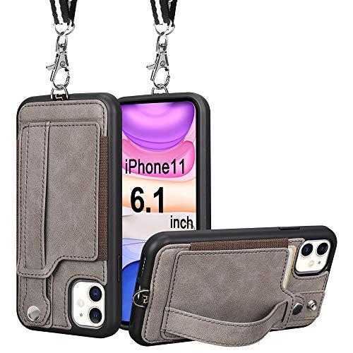 Toovren iphone11ケース 手帳型 iphone 11 カバー カード収納 ストラップ アイホン11ケース スマホケース レザー かわいい おしゃれ