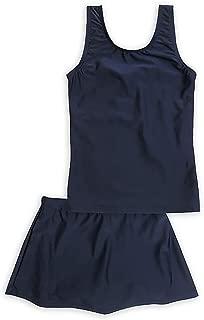 ASHBERRY (アッシュベリー) キッズスクール水着 女の子用スカート付き上下セパレート型 [UPF50+紫外線対策加工]
