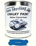 1Kg. Kreidefarbe Shabby Chic'Feinste Farbe' Ann Sterling für Innen und Außen Möbellack Bastellfarbe (Ozean Blau 10)