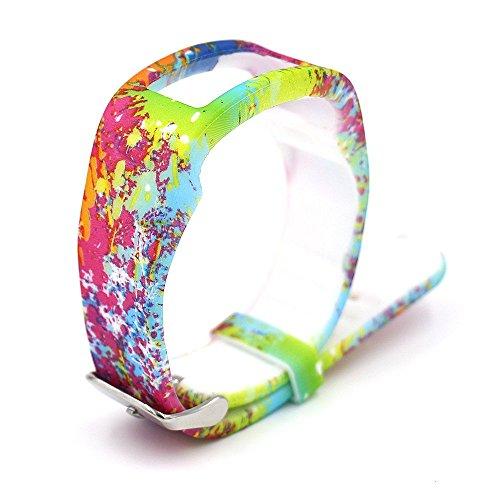 Woodln Fitness Armbänder Bracelet Replacement Ersatzband für Garmin Vivofit (Rainbow)