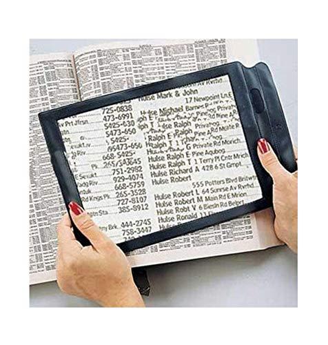 Detrade A4 Lupe Ganzseitige Leselupe, 3-fache Lupe Große Lupe, Lesehilfe Linse Fresnel für Bücher Menüs Zeitungen, Verbesserung der Sehkraft älterer Menschen für ältere Menschen Geschenk
