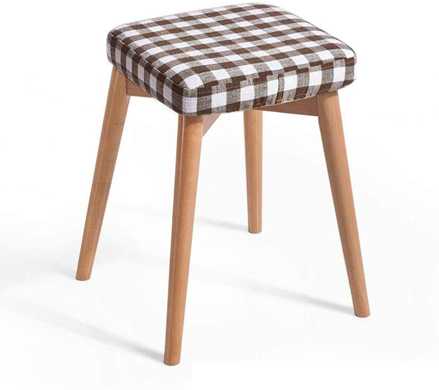 XUERUI Furniture Stools Chair Footstool Upholstered Modern Big Wood Seating Foot Stool 4 Legs and Linen Cover Strong Stability (color   T6)