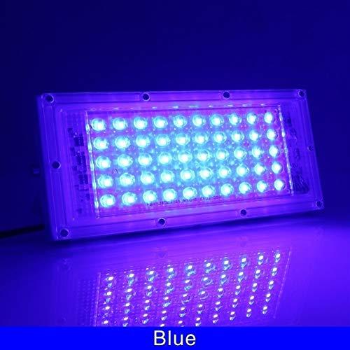 GZSC 2PCS 50W LED RGB schijnwerper lamp wisselstroom 220V 230V 240V Outdoor schijnwerper IP65 waterdicht reflector LED-koplamp met afstandsbediening