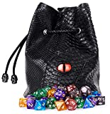Large Dice Bag with 7 Complete Dice Sets...