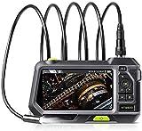 Cámara de inspección 14.5mm Endoscopio Industrial Boroscope 4 Luces LED con Pantalla de visualización de 5 Pulgadas HD 1080P 32 GB Tarjeta Cámara de inspección de 3500mAh ZSMFCD