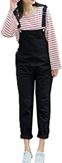 27ffb06bb6 Amazhiyu Womens Straps Bib Overalls Jumpsuit Solid Capris Pants with Pockets  Fall Casual Outfits for Juniors