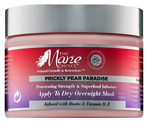 THE MANE CHOICE - Prickly Pear Paradise Apply to Dry Overnight Mask - Antioxidant-Rich Strengthening Hair Mask ( 12 Ounces / 355 Milliliters )