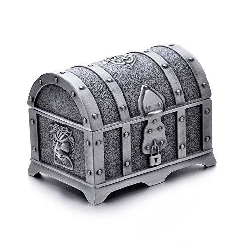 Aveson Schmuck-Kästchen, Schmuckschatulle Metall Schmuckkästen Damen Mädchen Ohrringe Schmuckdose Schmuckbox für Frauen Verlobung Heiratsantrag Halskette Geschenk Kasten Ring Box