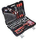 Connex COX566082 - Maletín de herramientas (82 piezas, con cierres de tensión, pinzas, para el hogar, el garaje y el taller, con maletín de herramientas y caja de herramientas)