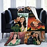 TECHSOURCE Gone with The Wind Ultra-Soft Micro Fleece Blanket Flannel Throw Blanket Fleece Blankets All Season Light Weight Warm Blanket for Couch Sofa Bed , Black,60'X50'