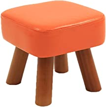 Comfortable Sofa Stool Candy Color PU Leather Home Simple Creative Single Low Stool Living Room Small Bench Lazy Practical...