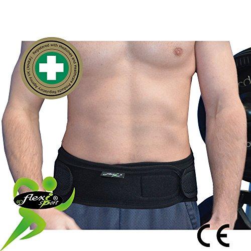 Faja Lumbar (L/NEGRO) - Cinturón de Protección Lumbar UNICA - ANTI-SUDOR