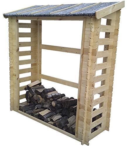 TIMBELA M201 Abri pour Bois de Chauffage- 180 x 70 cm/0,9 m²